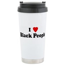 Cute I love black people Travel Mug