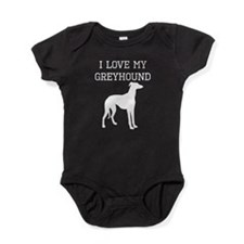 I Love My Greyhound Baby Bodysuit
