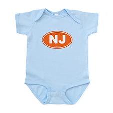 New Jersey NJ Euro Oval Onesie