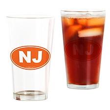 New Jersey NJ Euro Oval Drinking Glass
