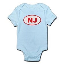 New Jersey NJ Euro Oval Onesie