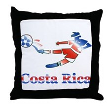 Costa Rica Soccer Player Throw Pillow