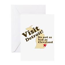 Cute Anti michigan Greeting Card