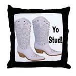 Yo Stud Throw Pillow
