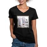 Yo Stud Women's V-Neck Dark T-Shirt
