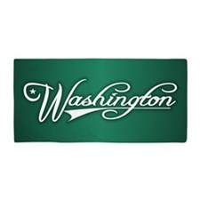 Washington State of Mine Beach Towel