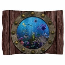 Underwater Love Porthole Pillow Sham