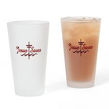 Jesus Saves Drinking Glass