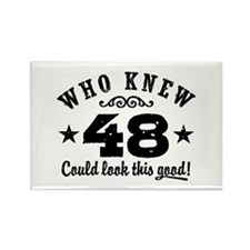 Funny 48th Birthday Rectangle Magnet