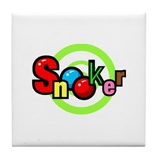 Snooker Pool and Billiards Game Tile Coaster