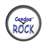 Condos Rock Wall Clock