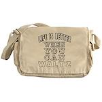 Waltz Dance Designs Messenger Bag