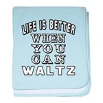 Waltz Dance Designs baby blanket
