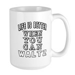 Waltz Dance Designs Large Mug