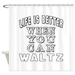 Waltz Dance Designs Shower Curtain