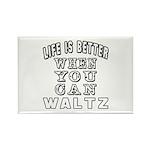 Waltz Dance Designs Rectangle Magnet (100 pack)