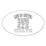 Waltz Dance Designs Sticker (Oval 50 pk)