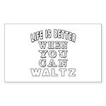 Waltz Dance Designs Sticker (Rectangle 10 pk)