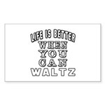 Waltz Dance Designs Sticker (Rectangle 50 pk)