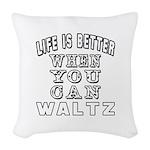 Waltz Dance Designs Woven Throw Pillow