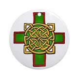 &quot;Celtic Cross&quot; Round Ornament