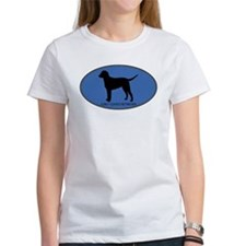 Curly Coated Retriever (oval- Tee