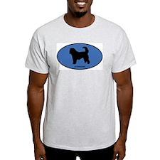 Otterhound (oval-blue) T-Shirt