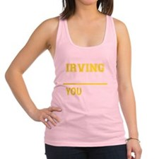 Funny Irving Racerback Tank Top