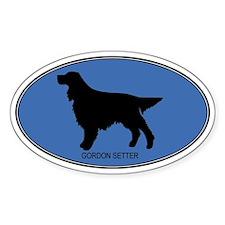 Gordon Setter (oval-blue) Oval Decal