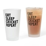 Eat sleep cricket repeat Pint Glasses
