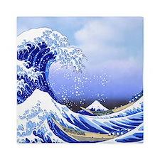 Surfs Up! Great Wave Hokusai Queen Duvet