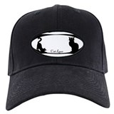 Cat Lover Black Baseball Cap Cat Lover Art Gifts