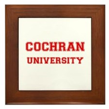 COCHRAN UNIVERSITY Framed Tile