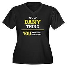 Cool Dani Women's Plus Size V-Neck Dark T-Shirt
