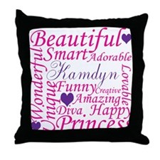 Cute Pink diva Throw Pillow