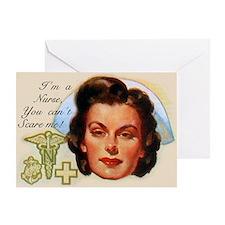 Vintage Nurses Don't Scare Greeting Card