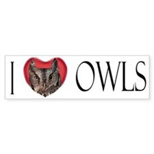 I Love Owls Bumber Bumper Sticker