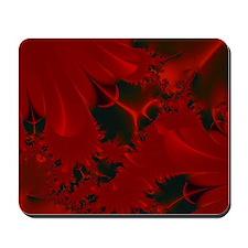 Red Fusions Fractal Art Mousepad