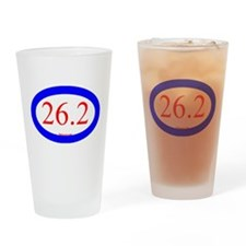 26.2 Running Oval Blue/Red Drinking Glass