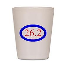 26.2 Running Oval Blue/Red Shot Glass