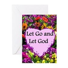 LET GO AND LET GOD Greeting Cards (Pk of 20)
