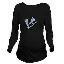 Cute Funny add Long Sleeve Maternity T-Shirt