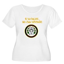 If Do Right, No Can Defense Plus Size T-Shirt