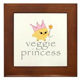 Veggie Princess Framed Tile