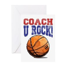 Basketball Coach U Rock! Card Greeting Cards
