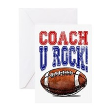Football Coach U Rock! Card Greeting Cards