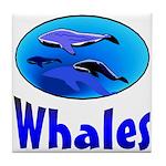 Whales Tile Coaster