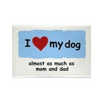 I LOVE MY DOG Rectangle Magnet (10 pack)