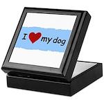 I LOVE MY DOG Keepsake Box