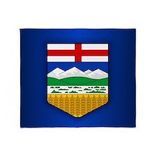 Alberta Flag Throw Blanket